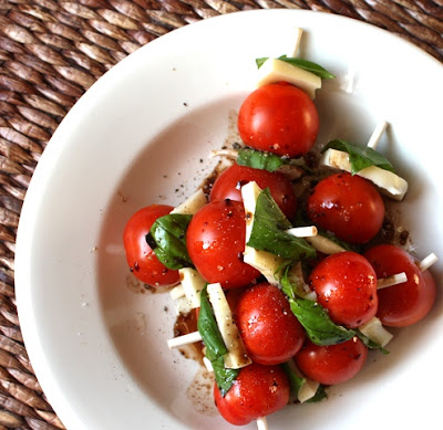 Caprese Skewers with Balsamic and Olive Oil recipe by Barefeet In The Kitchen