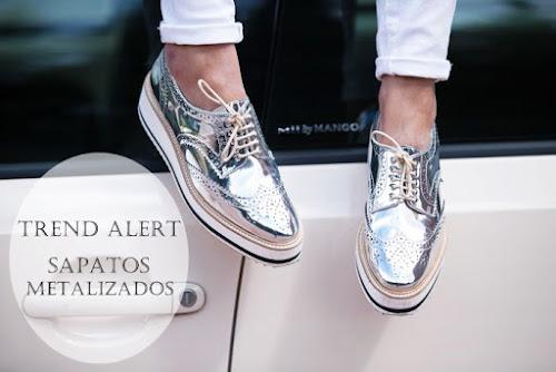 Trend Alert | Sapatos Metalizados