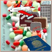 Como proceder para levar medicamentos nas viagens ao exterior.