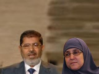 Presiden Mursi dan Najla Mahmud Istrinya