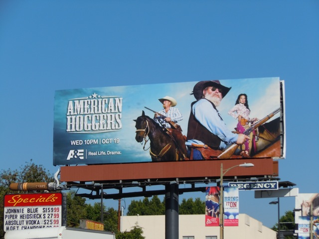 American Hoggers TV billboard