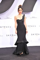 Berenice Marlohe wearing Armani on the red carpet