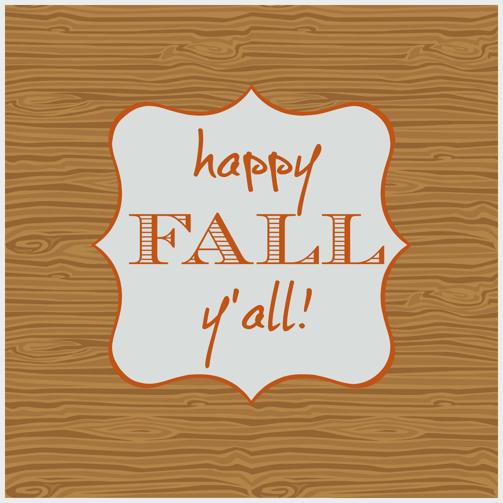 It is a graphic of Satisfactory Happy Fall Yall Printable
