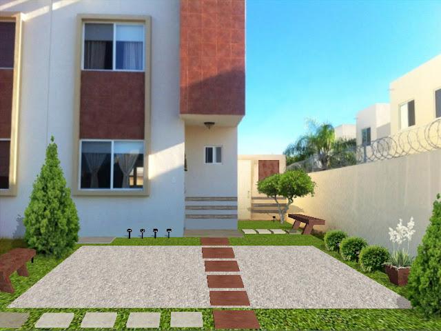 Renders 2d dise o de jardines sobre fotograf a fotos - Jardines minimalistas pequenos ...