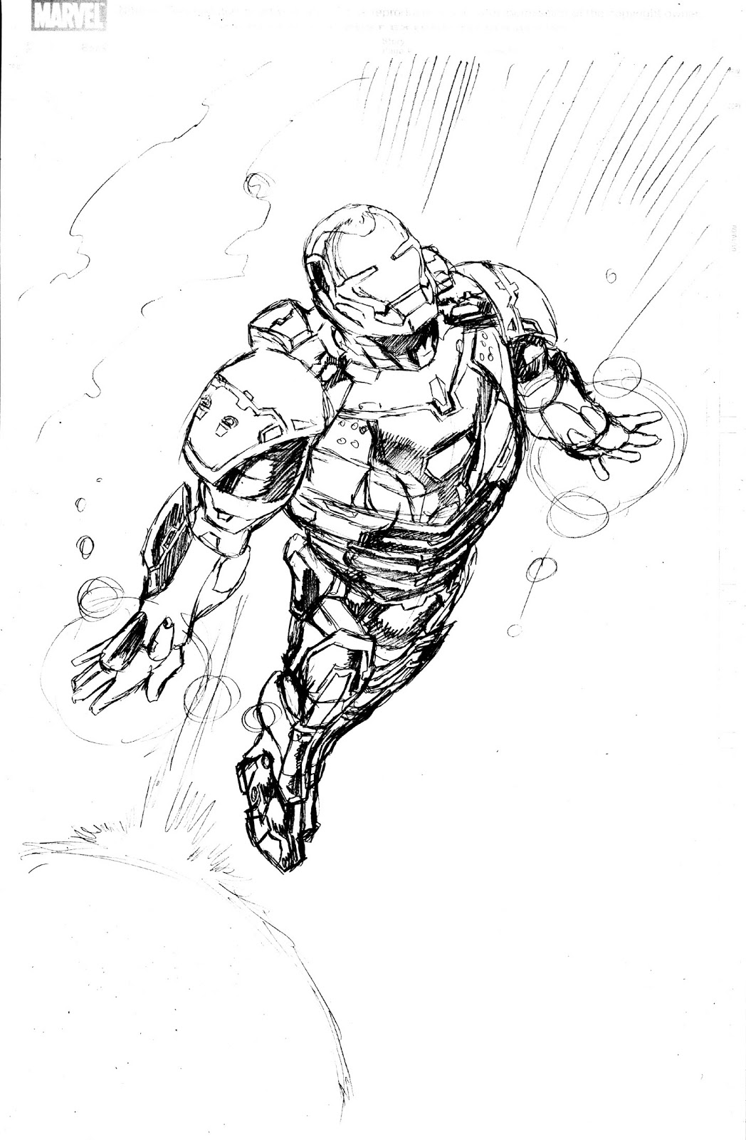 the pencils - Iron Man Coloring Pages Mark