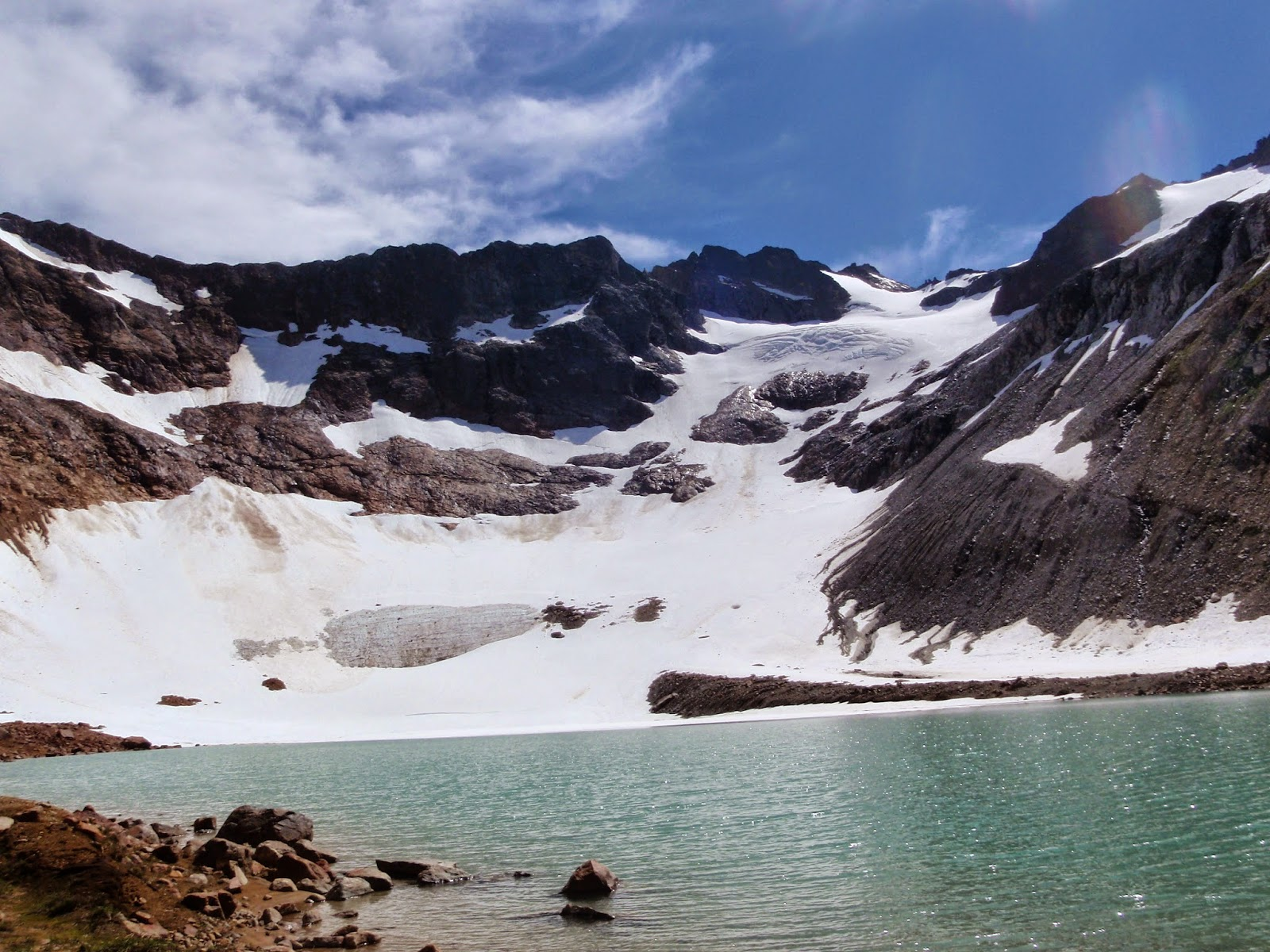 Lyman Glacier from Upper Lyman Lake @ Glacier Peak Wilderness