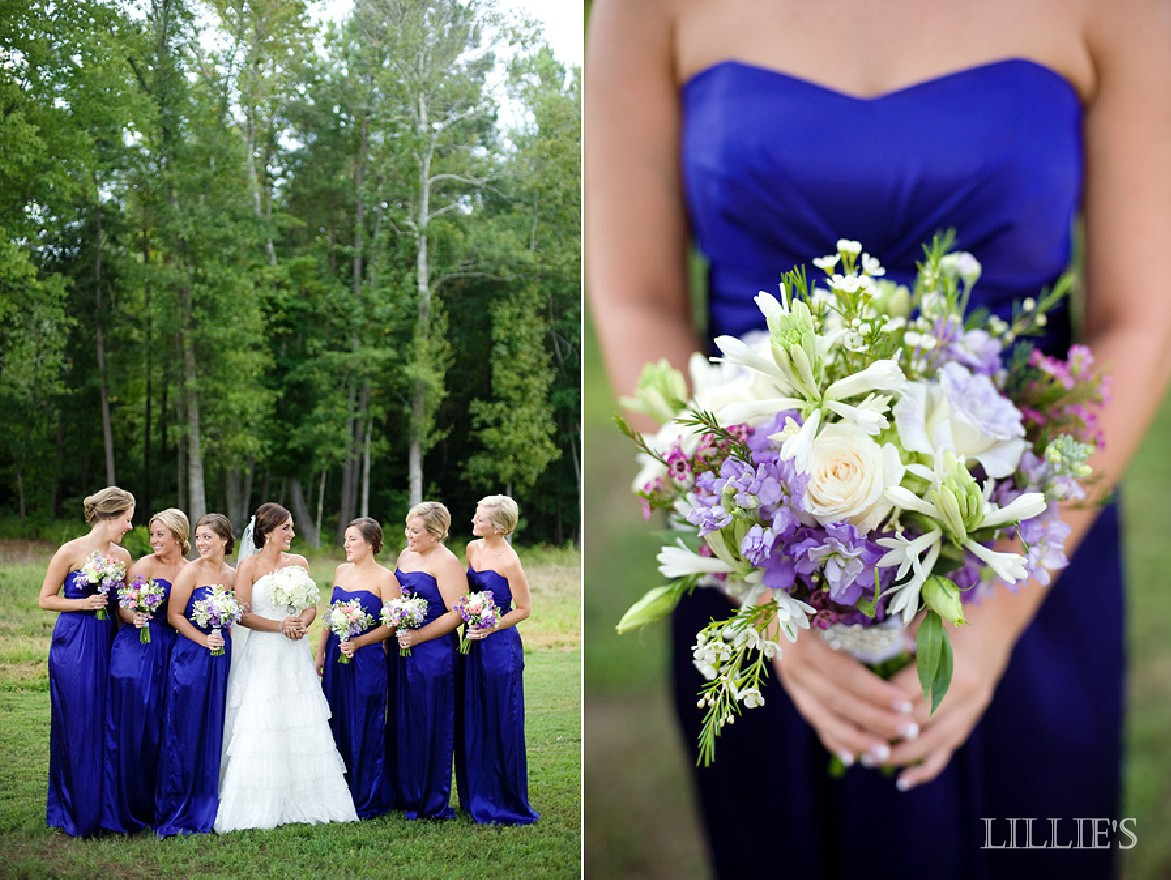 LILLIE\'S FLOWER JOURNAL: Weddings: A Summer Wedding in Blue and Lavender