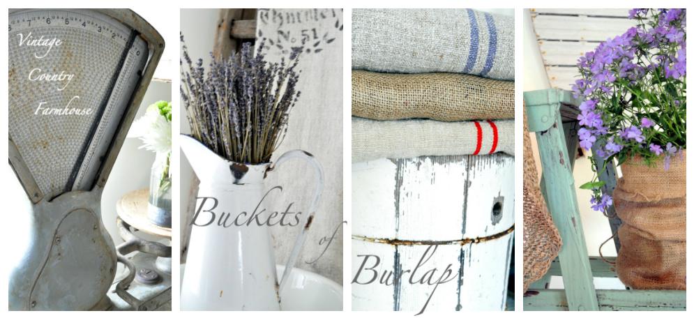 Buckets of Burlap