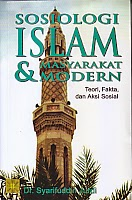 toko buku rahma: buku SOSIOLOGI ISLAM DAN MASYARAKAT MODERN, pengarang syarifuddin jurdi, penerbit kencana