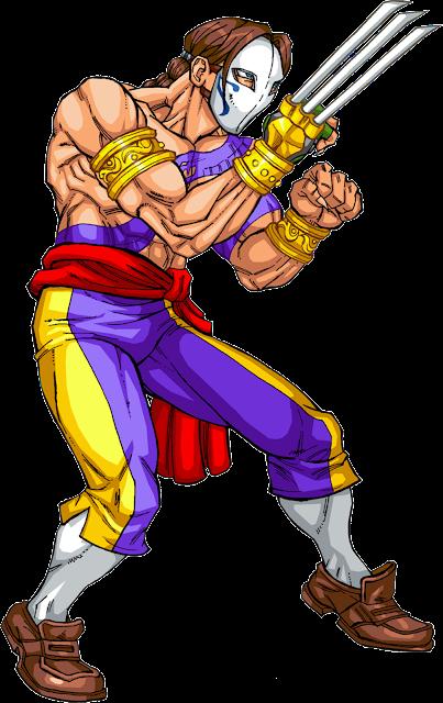 Vega Street Fighter desenho colorido com fundo transparente