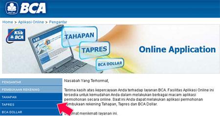 Buka Rekening Tabungan BCA via Internet