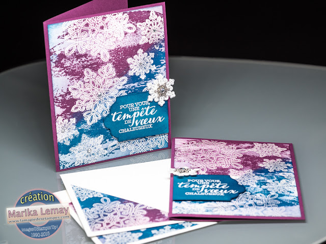 flocons Stampin' Up!