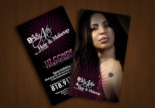14 make up artist business card examples mow design graphic b4 after make up business cards reheart Images
