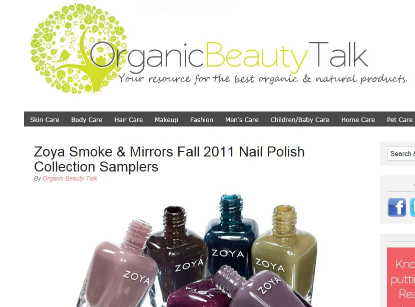 With The Official Arrival Of Autumn Yesterday Its Only Appropriate To Talk About Zoyas New Smoke Mirrors Fall 2011 Nail Polish Collections
