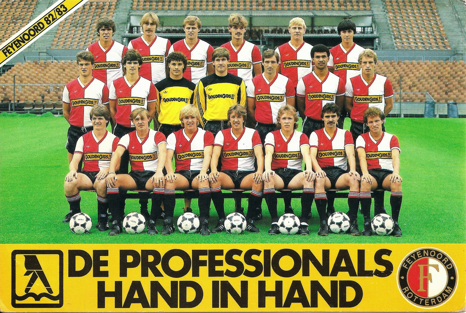 FEYENOORD ROTTERDAM 1982-83. ~ THE VINTAGE FOOTBALL CLUB