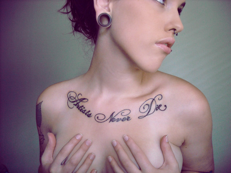 Star Chest Tattoos For Women