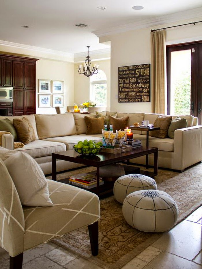 Warm Neutral Living Room Design Ideas