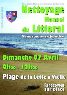nettoyage manuel du Littoral à Vielle Saint Girons
