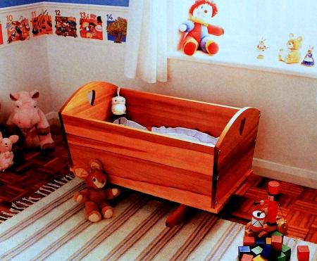 Cuna mecedora para bebes carpinteria paso - Hacer cuna de madera ...