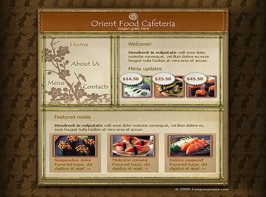 Free Flash Cafeteria Restaurant Template