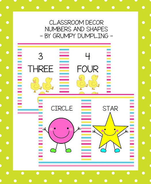 https://www.teacherspayteachers.com/Product/Classroom-Decor-Numbers-1-10-and-Shapes-1846231