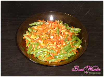 Resepi Mudah Sayur Kacang Buncis Goreng. Cara Masak Sayur Kacang Buncis. Kacang Buncis Dan Carrot Goreng Sedap Simple Senang