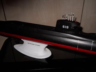 maqueta estatica de submarino nuclear revell 1 200