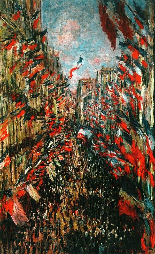Клод Моне. Улица Монторгей в Париже в праздник 30 июня 1878 года. 1878.