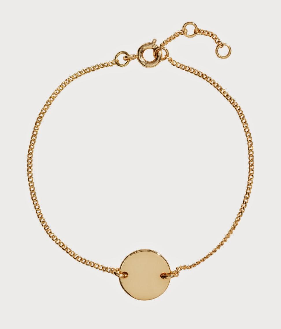 gold bracelet high street
