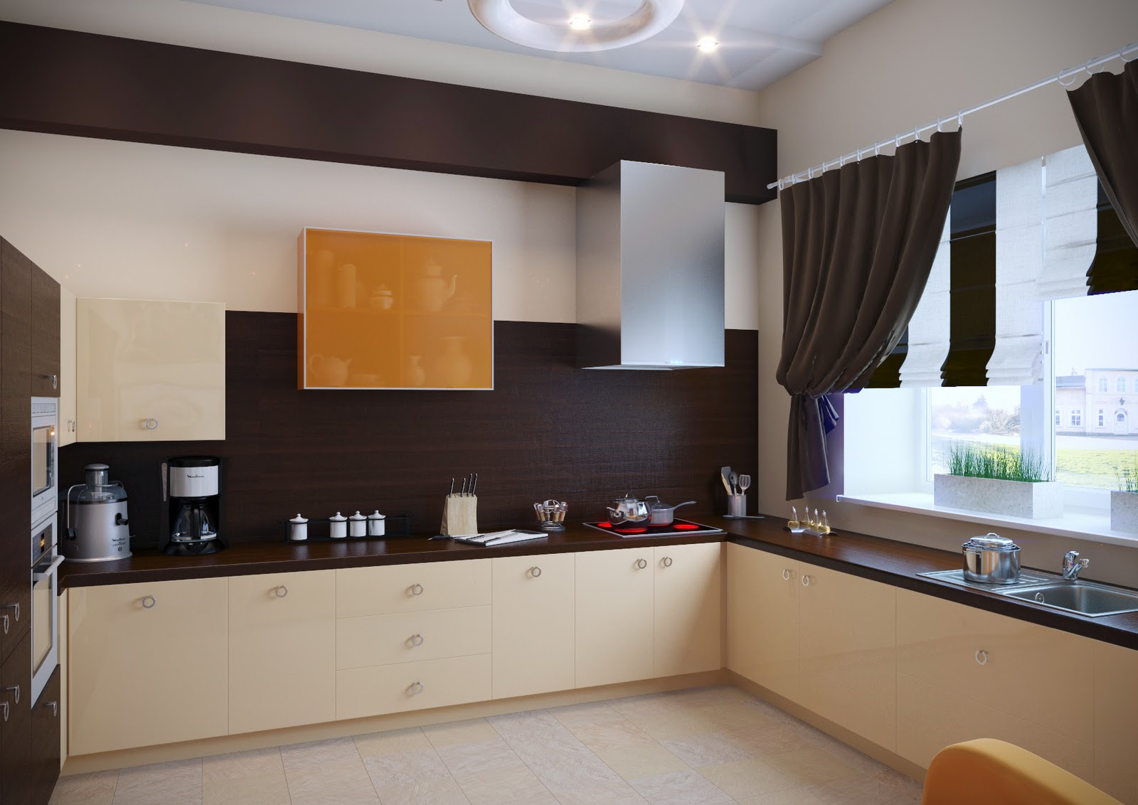 Гостиная и кухня на первом этаже