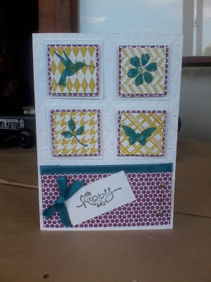 A masculine style card using sale-a-bration items and a new stamp set from the seasonal catalogue - Beyond Plaid