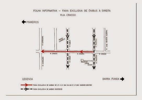 Faixa Exclusiva de Ônibus - Rua Crasso