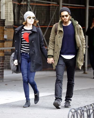 Stroll with her Andrew: Emma Stone shows heart