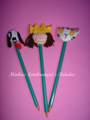 princesinha-feltro-ponteira-lápis-lembrancinha