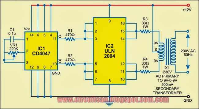 simple low power inverter circuit diagram circuitsan youtube rh circuitsan youtube blogspot com