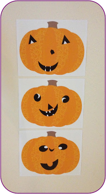 Paper jack-o-lanterns ~ Life in Random Bits #halloween #pumpkin #crafts