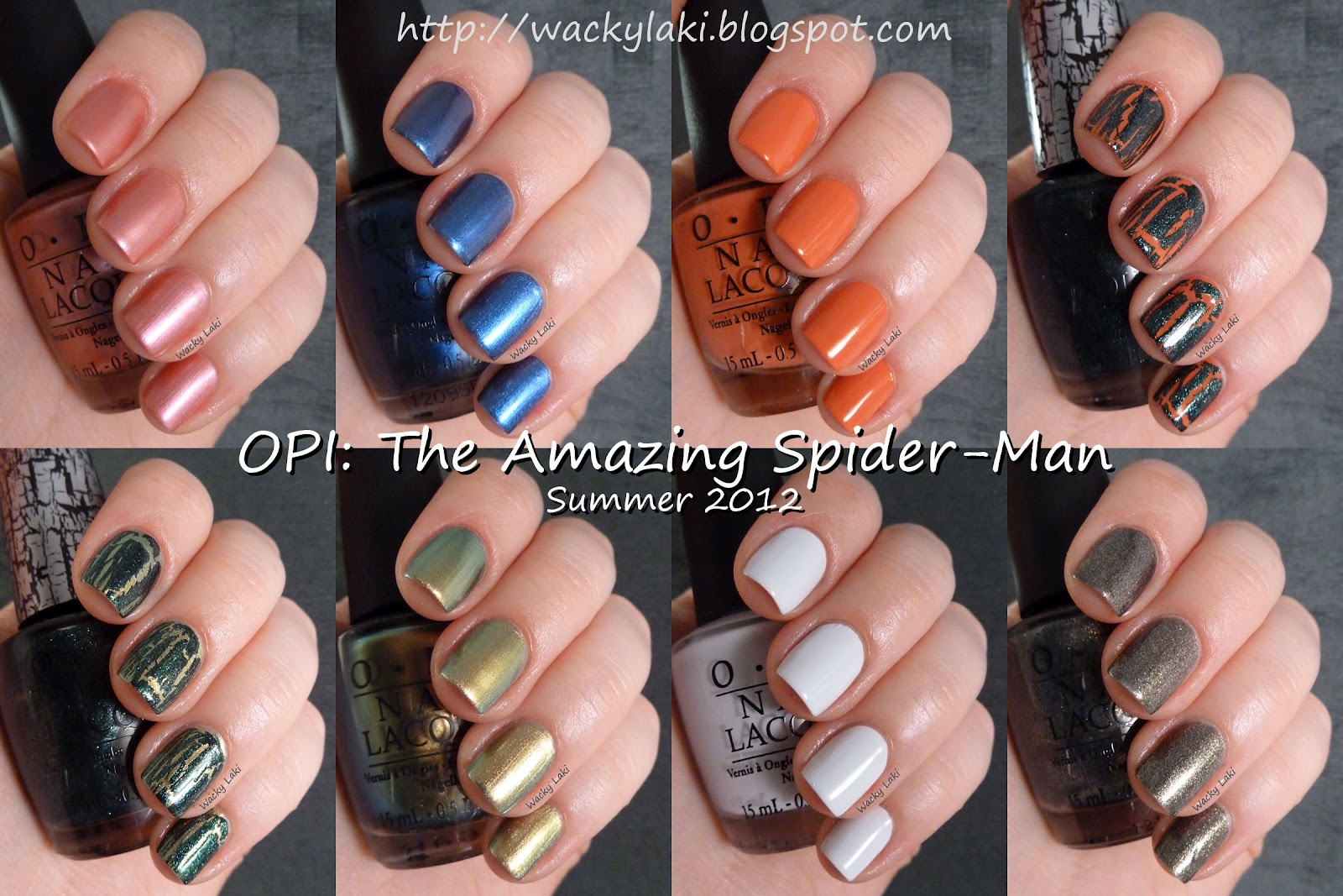 Wacky Laki: OPI: The Amazing Spider-Man Collection for Summer 2012