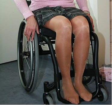 Women in Wheelchairs Wearing Socks