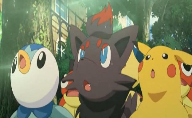 Pikachu, Puplup y Zorua
