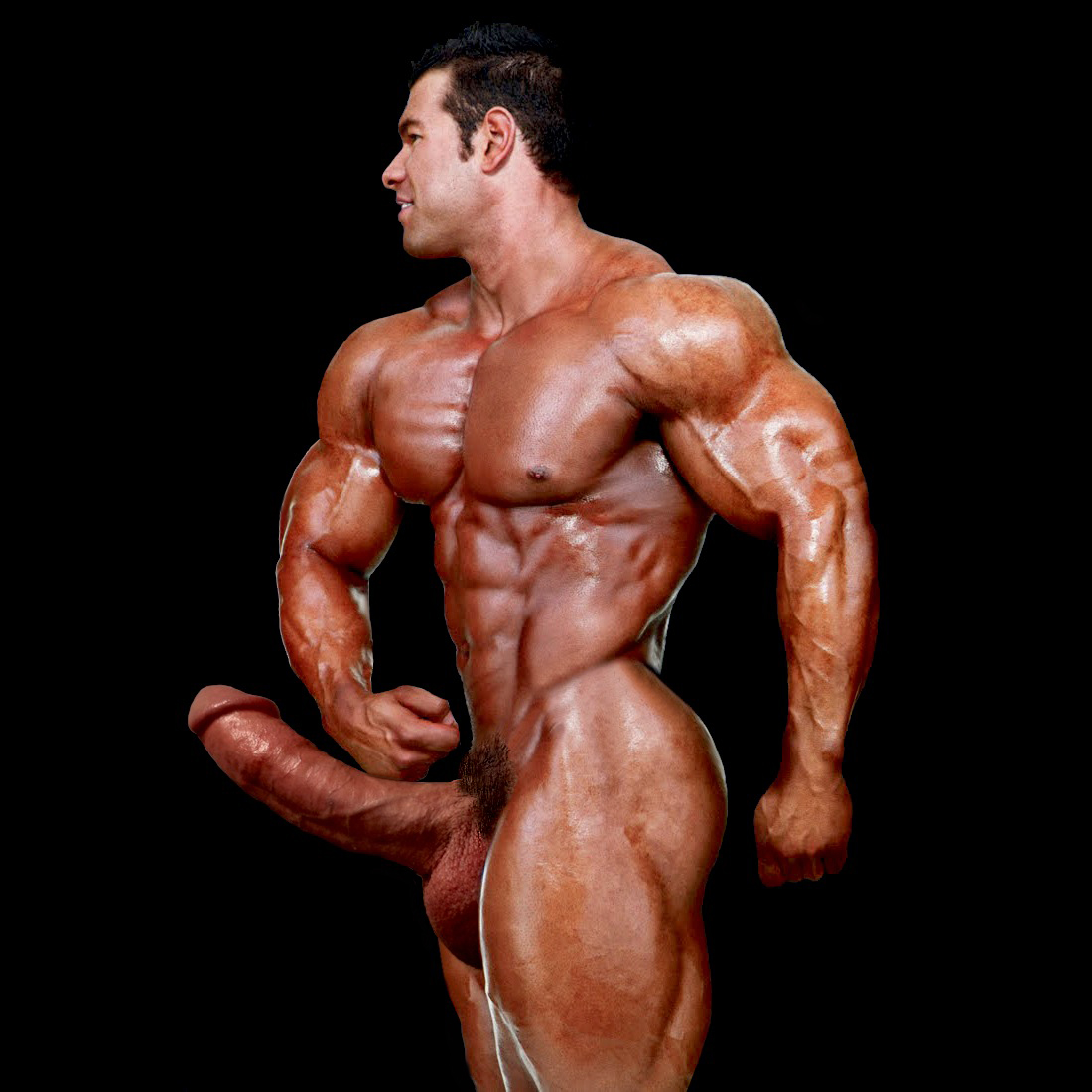 bodybuilder big cock