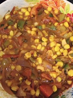 Corn Capsicum Masala Gravy
