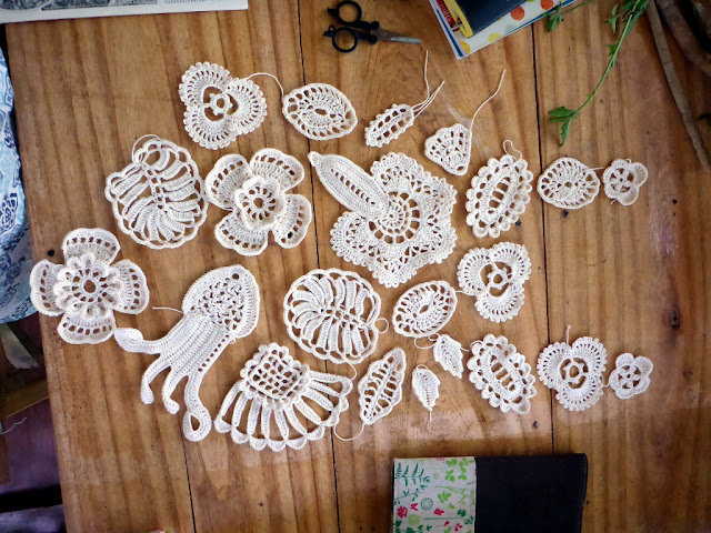 Irish lace motifs free to learn to make