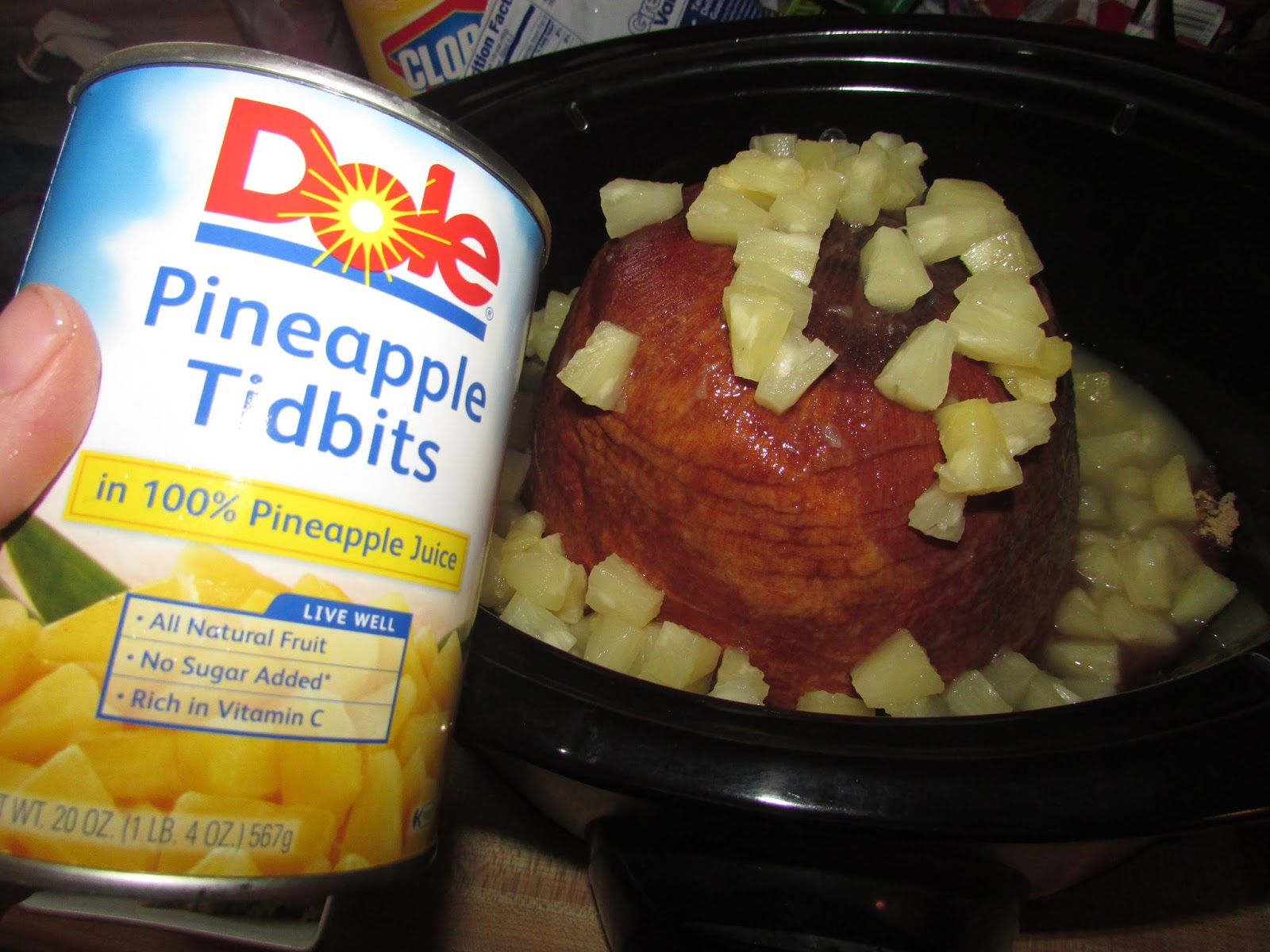 For The Love Of Food Crock Pot Brown Sugar Pineapple Ham For The