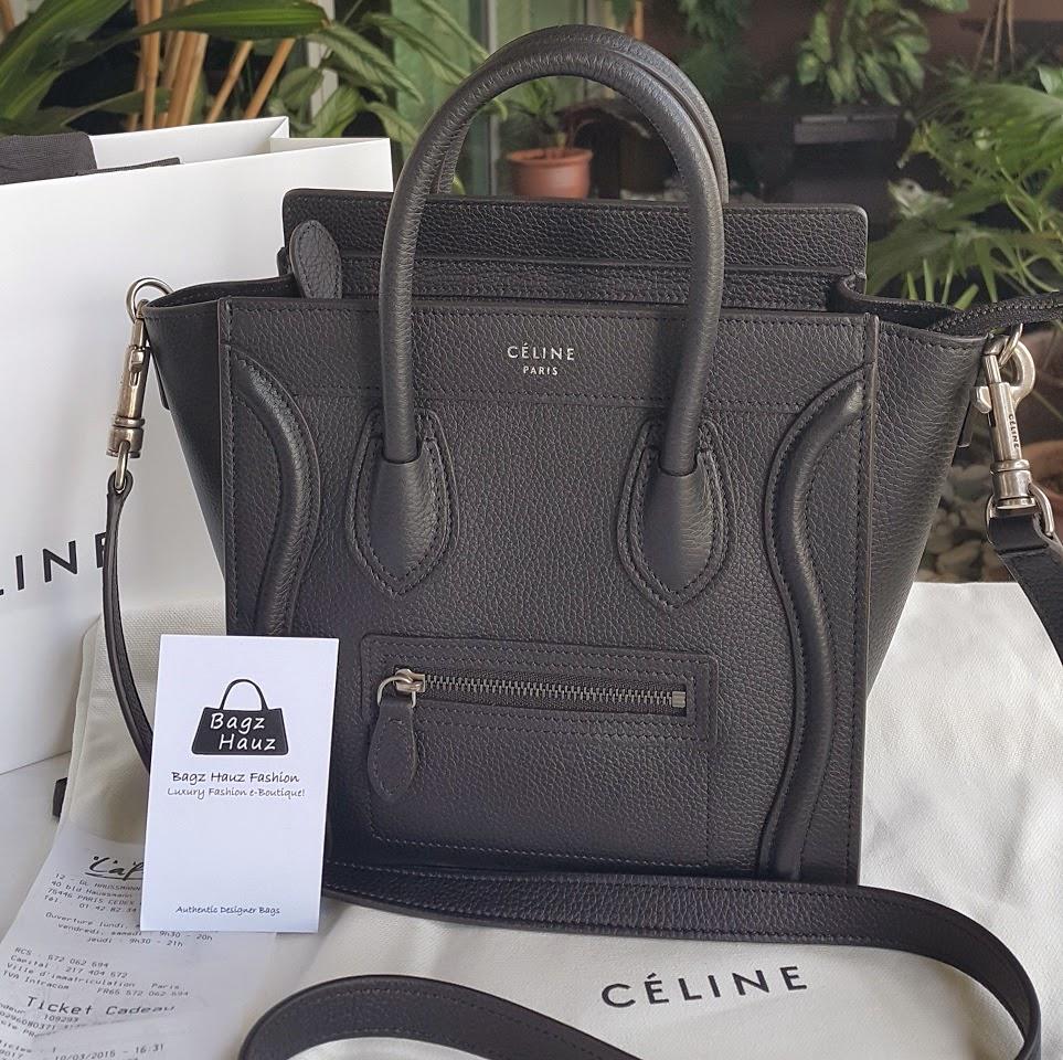 CELINE Smooth Calfskin Micro Luggage Black