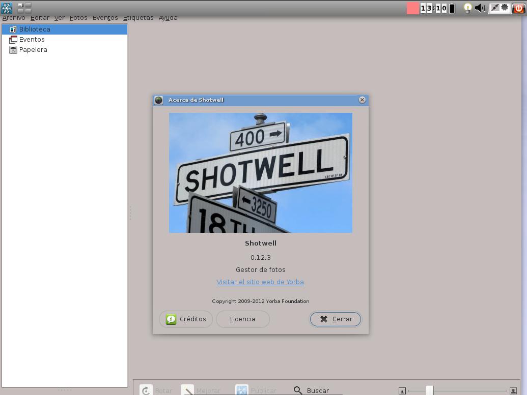 Shotwell en Snowlinux