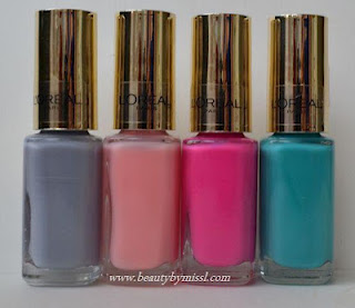 L'Oreal Color Riche nail polishes swatches