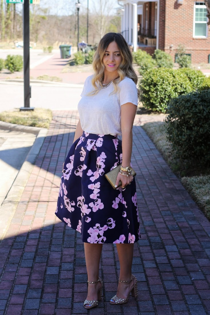 Carrie Bradshaw Zac Posen Purple Skirt Outfit Inspiration