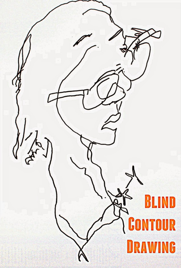 how to do a blind contour drawing