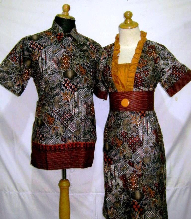 Gambar model baju batik modern couple