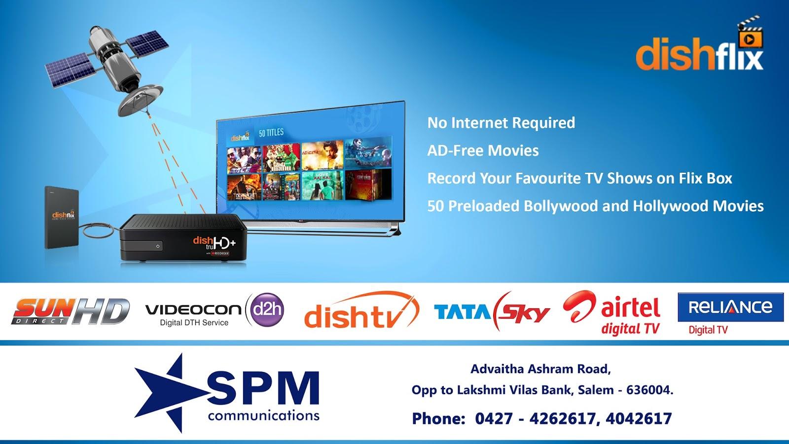 SPM Communications Dish-TV,Sun Direct,TATA Sky,Videocon D2H, DTH ...
